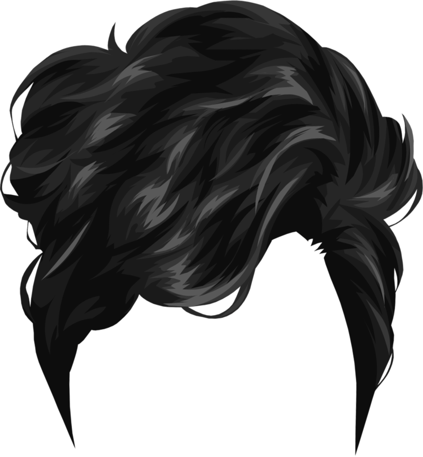 black male hair png
