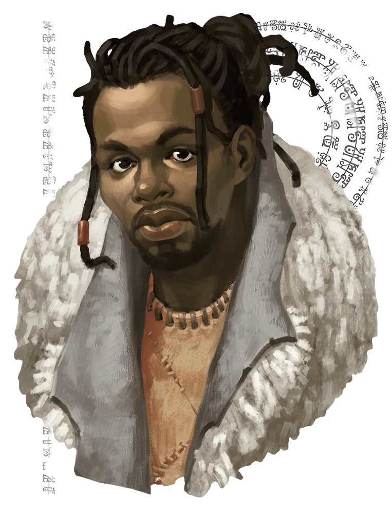 Monsters d beyond african. Black man dreads png vector black and white stock