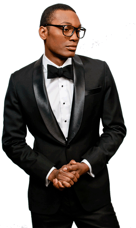 Black man in suit png. Tuxedo jacket noble co