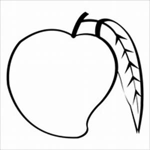Black mango. Clipart and white x