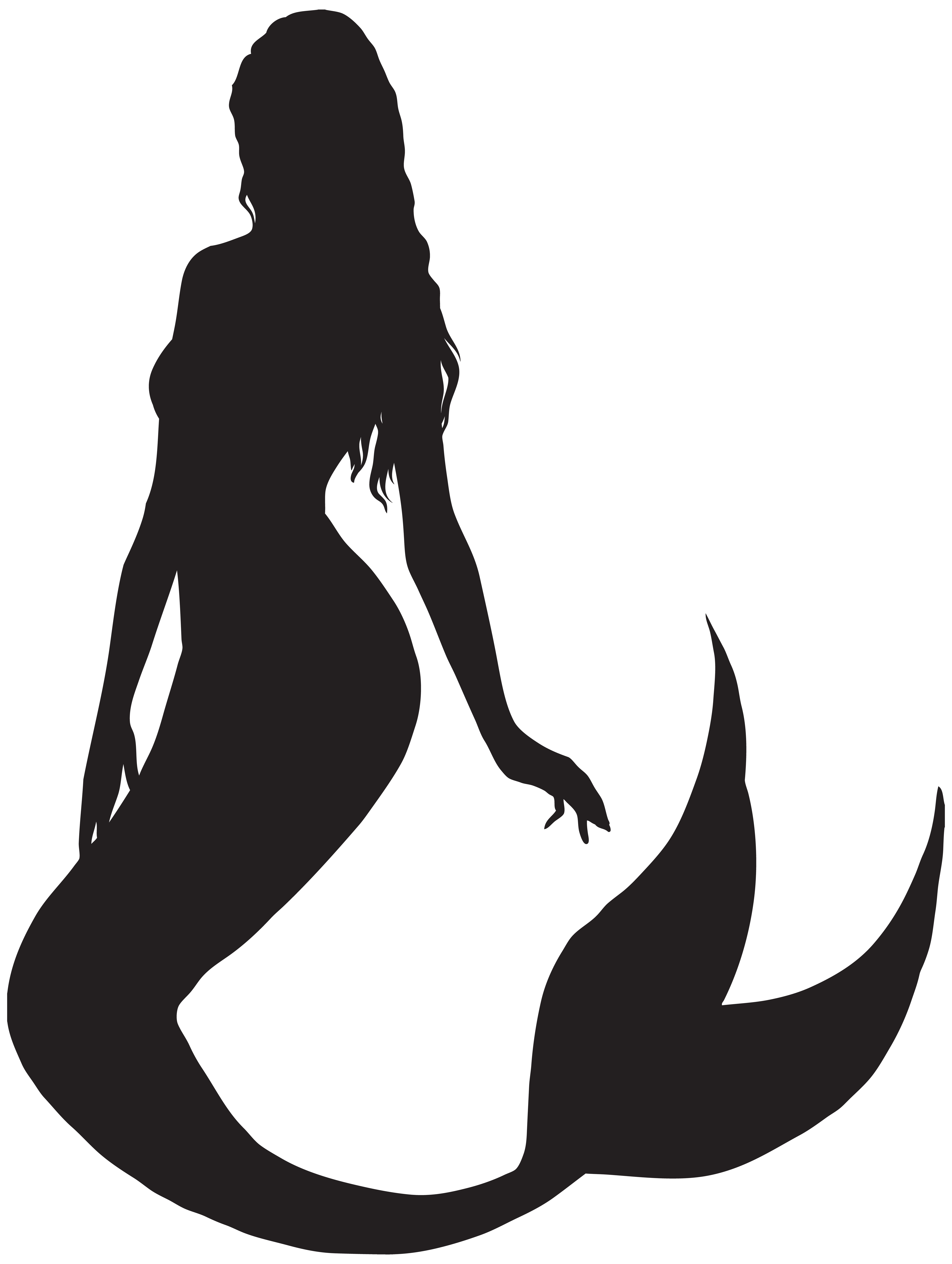 Black mermaid png. Silhouette clip art gallery