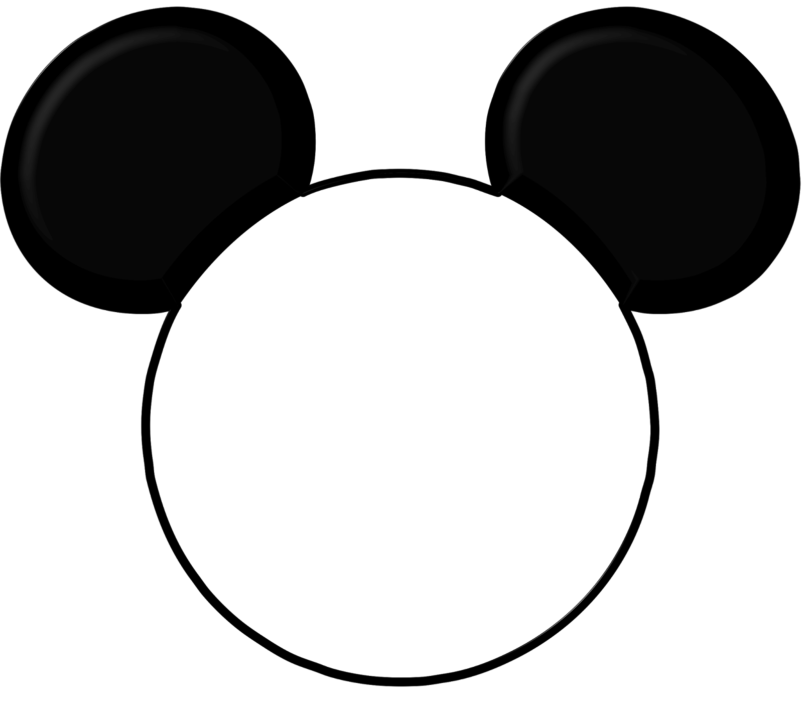 Free download clip art. Mickey mouse head outline png image free