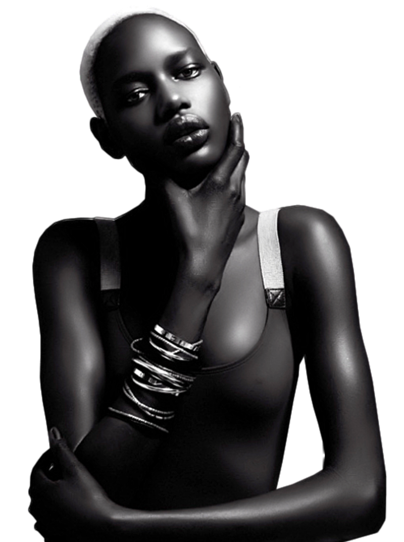 Ebony model fashion png. Fhg wno black