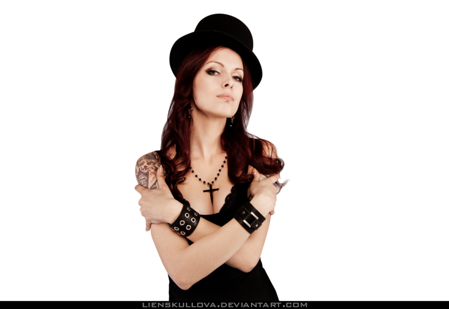 Black models png. Stock gothic girl by