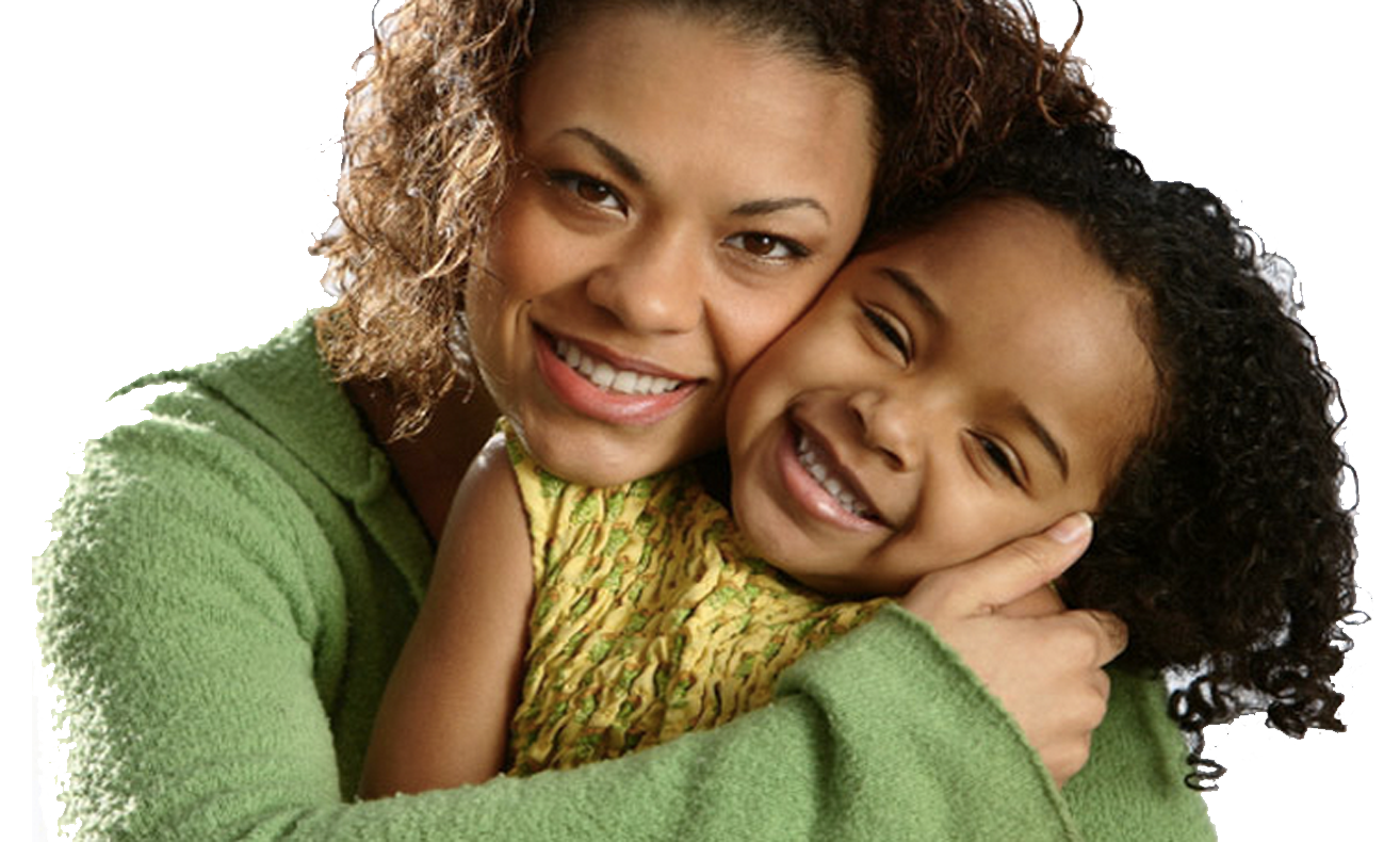 Black mom and child png. Kudos to the single