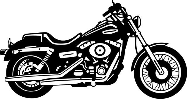 Black motorcycle. Free cliparts download clip