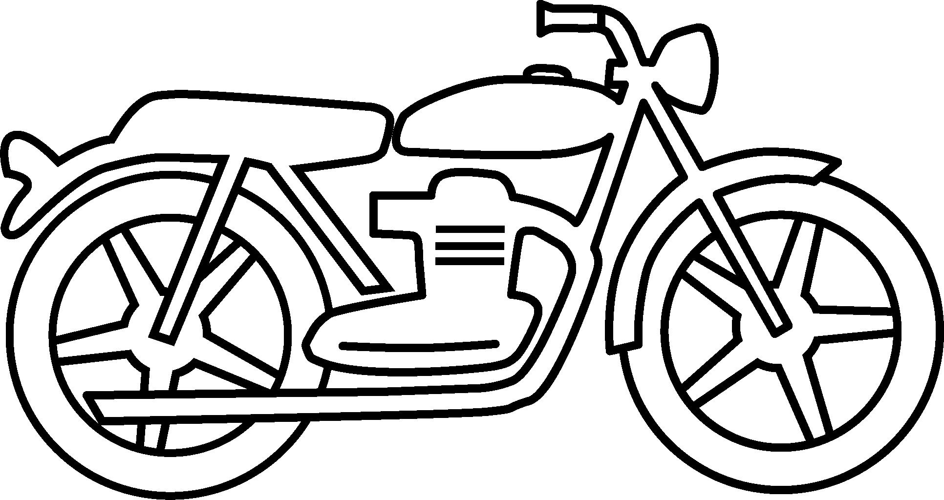 Black motorcycle. And white clipart