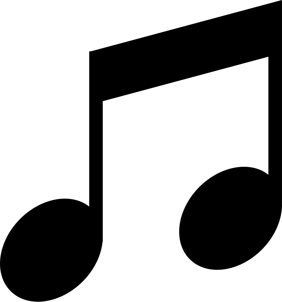 Black music note png. Musical double shape svg