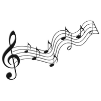 Black music notes png. Download musical free photo