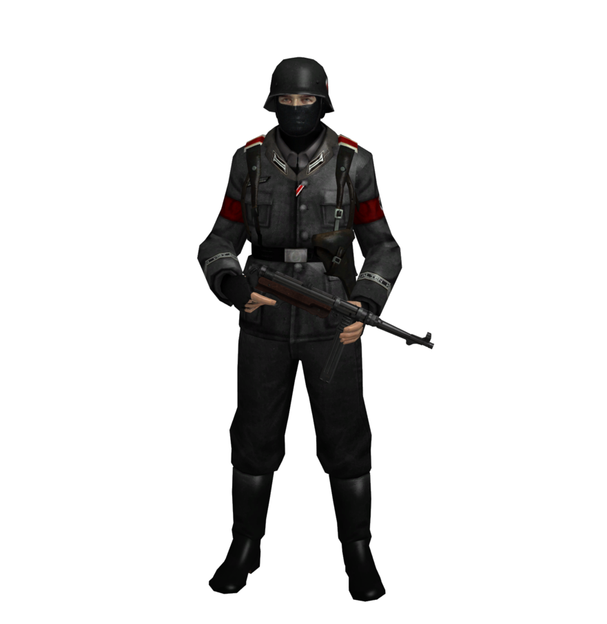 Nazi transparent costume. German soldier ww by