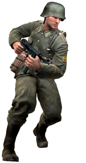 black nazi soldier png