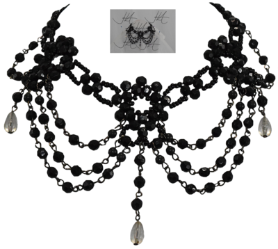 choker drawing necklace