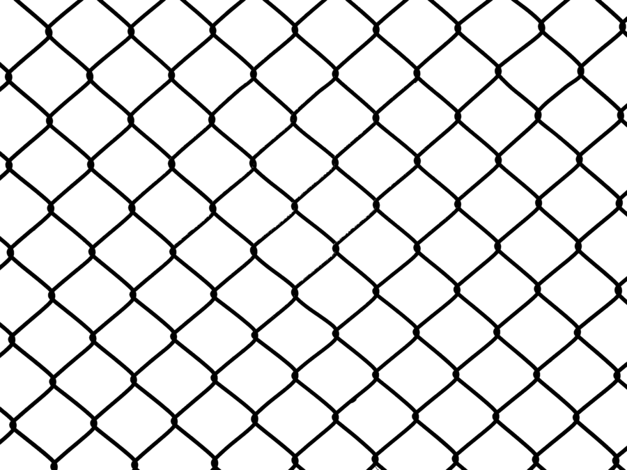 metal chain fence png