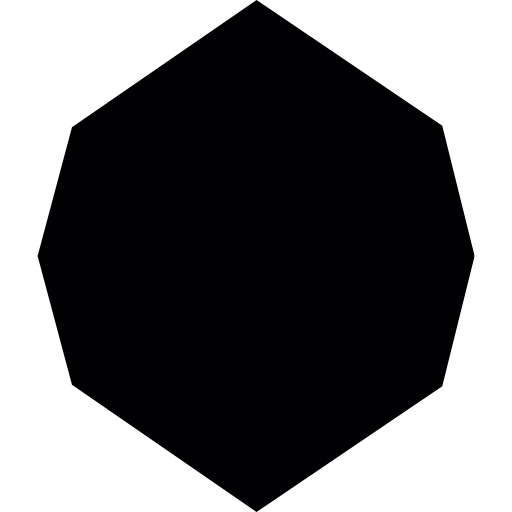 Black octagon icon png transparent. Shape free shapes icons
