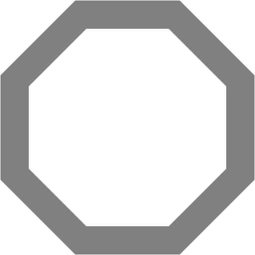 Black octagon png. Gray outline icon free