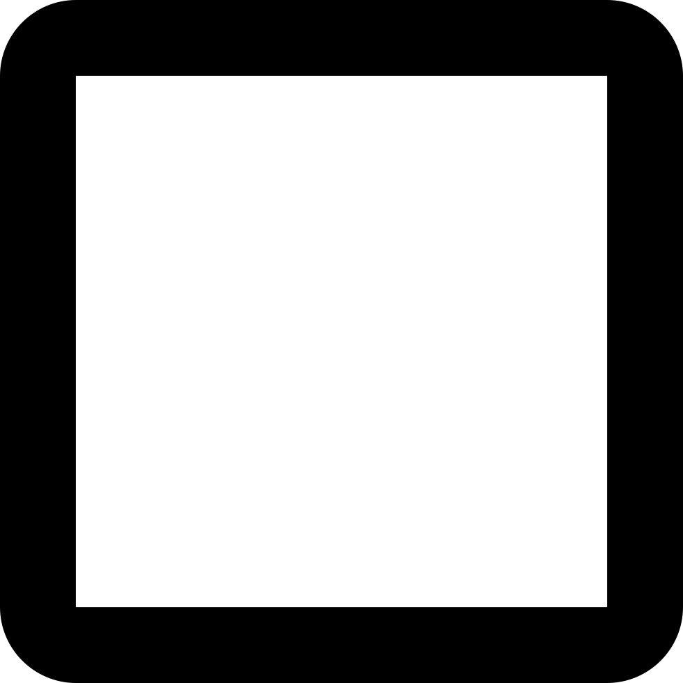 Black outline png. Check box blank svg