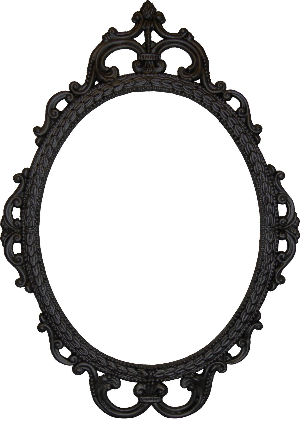 white oval frame png