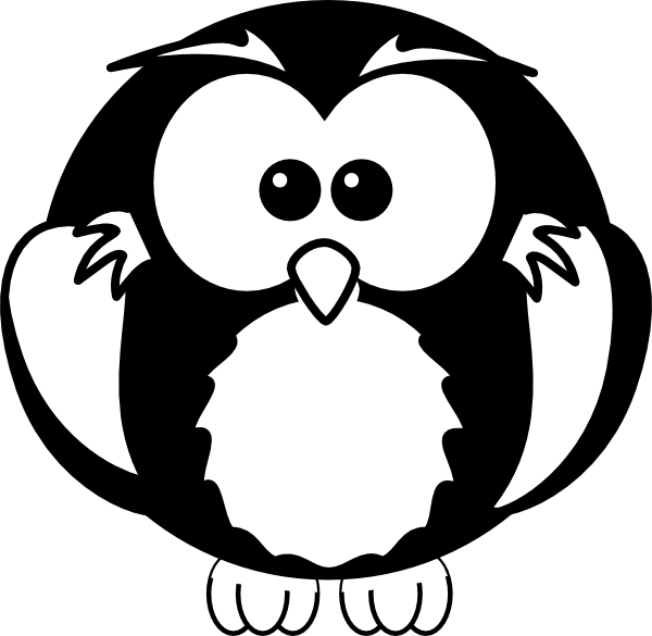 White owl png. Black and clip art