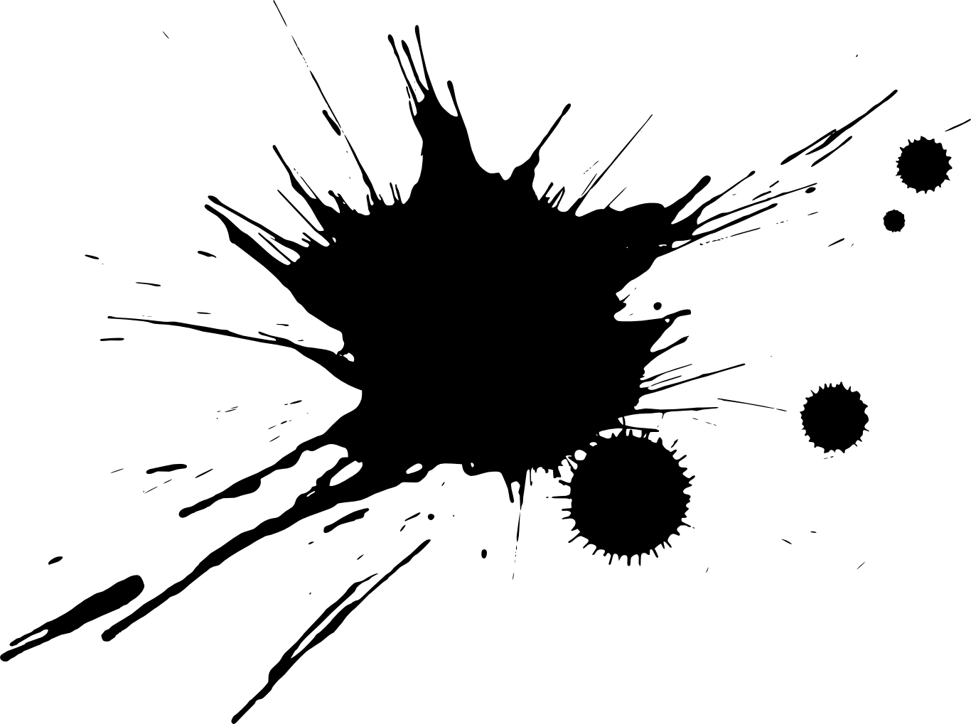Black paint splatter png. Splatters transparent onlygfx