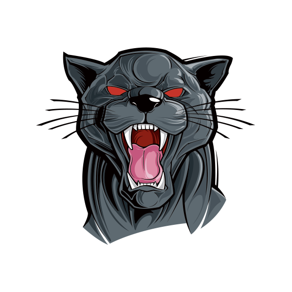 Black panther head png. Printed vinyl angry stickers