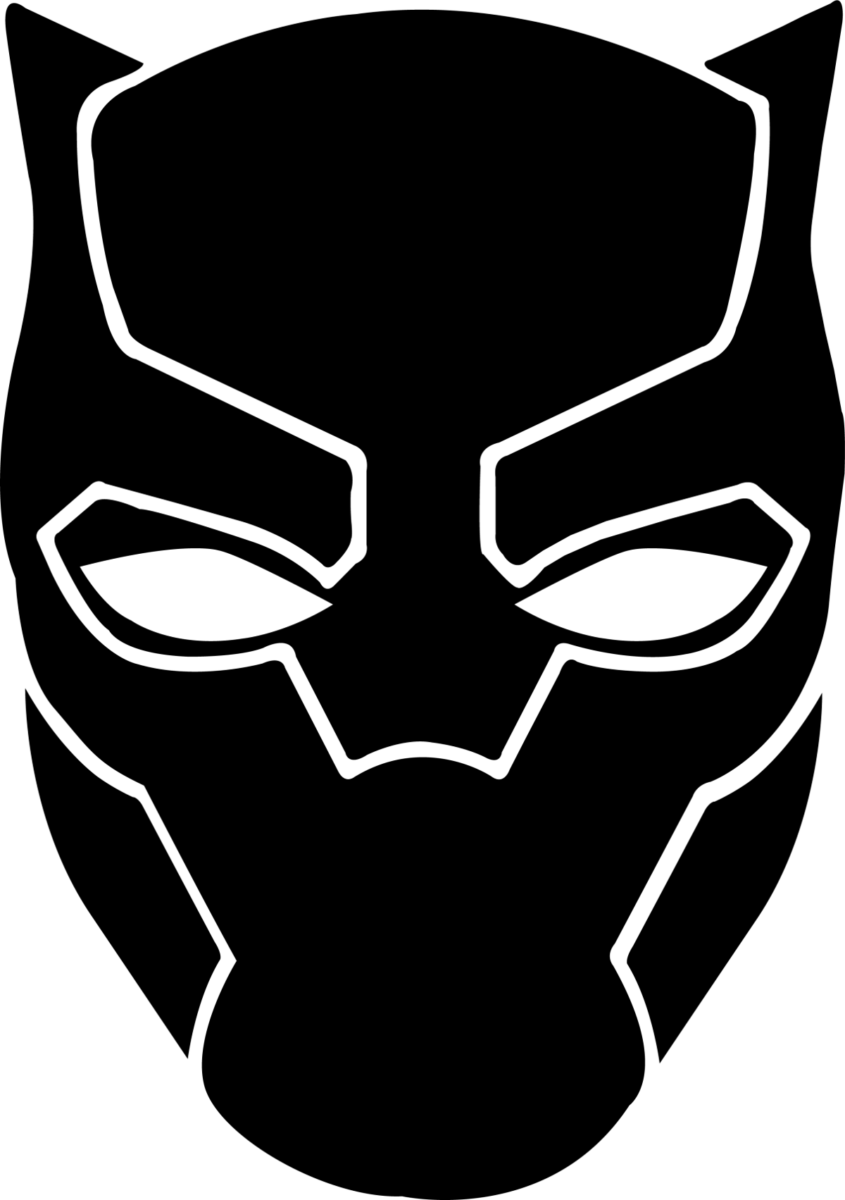 Black panther logo png. Stands as entertaining entry