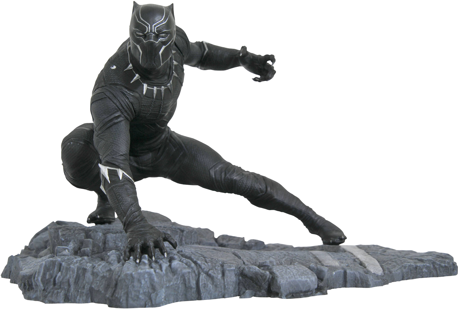 Black panther marvel transparent png. Images pluspng marvelgalleryblackpantherpvcstatuepopcultchanew