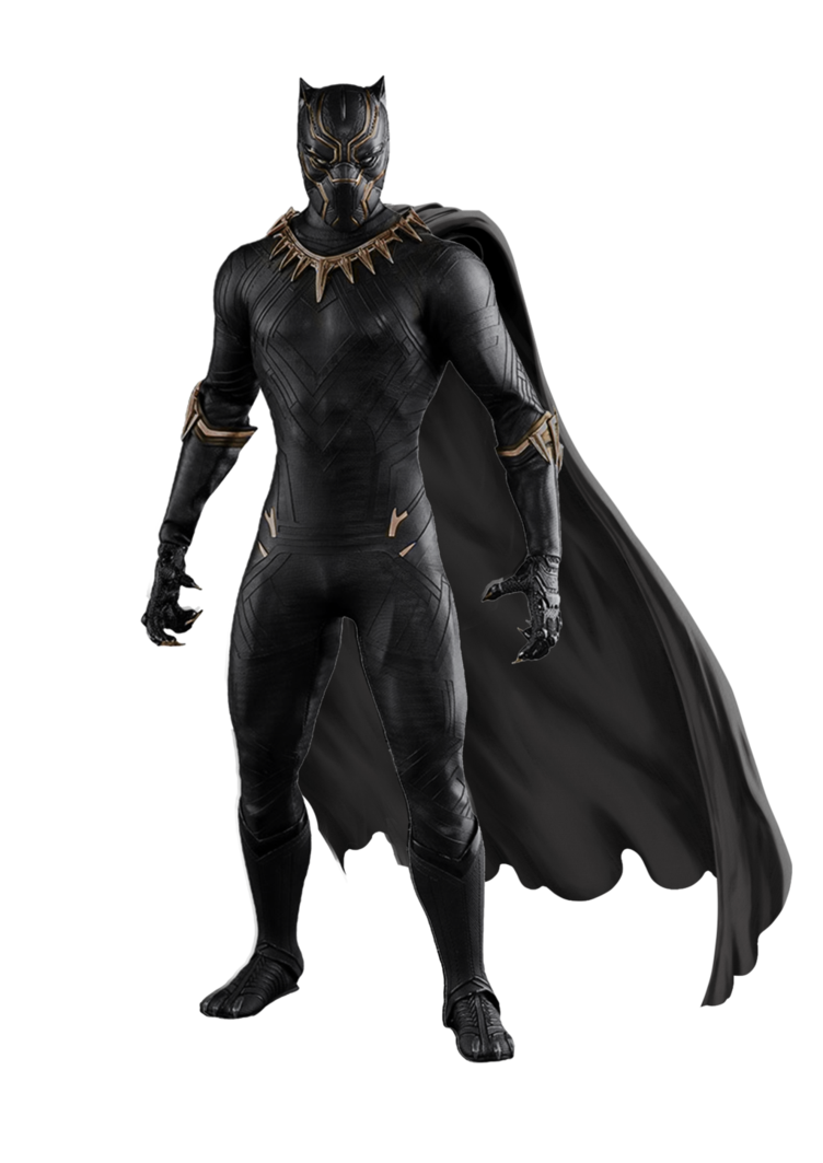 Black panther marvel transparent png. With cape by hb