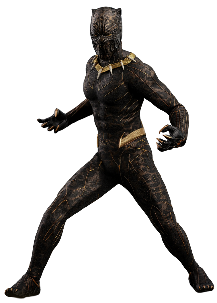 Black panther transparent png. Erik killmonger gold jaguar