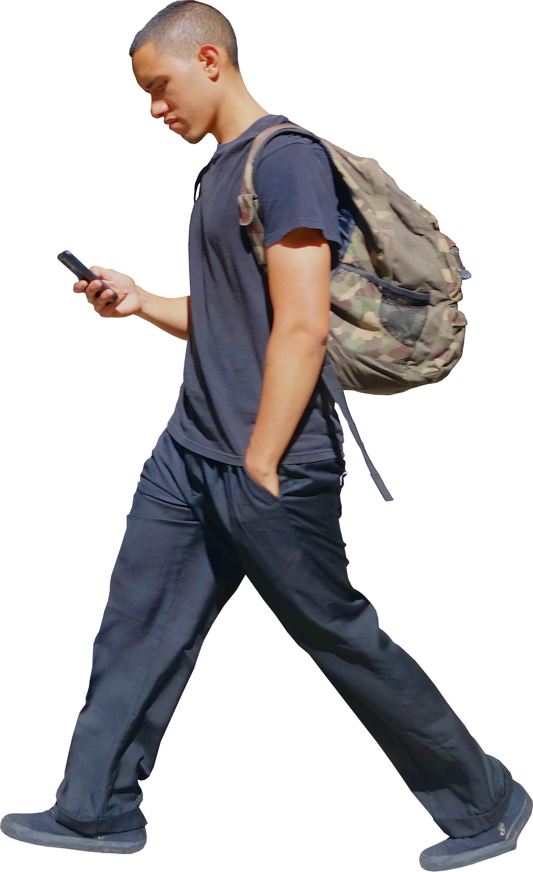 Black people walking png. Boy with phone architextures