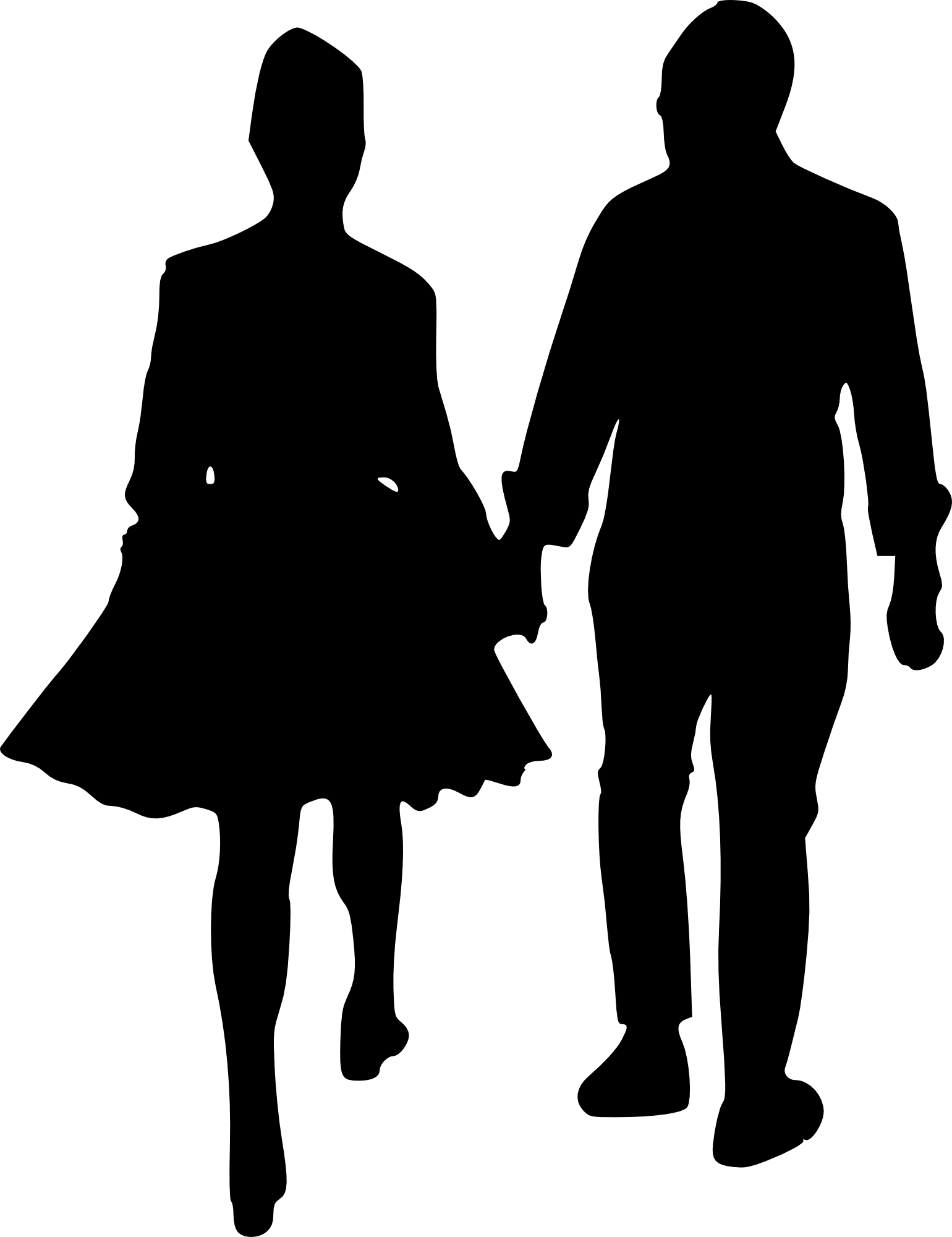 people talking silhouette png