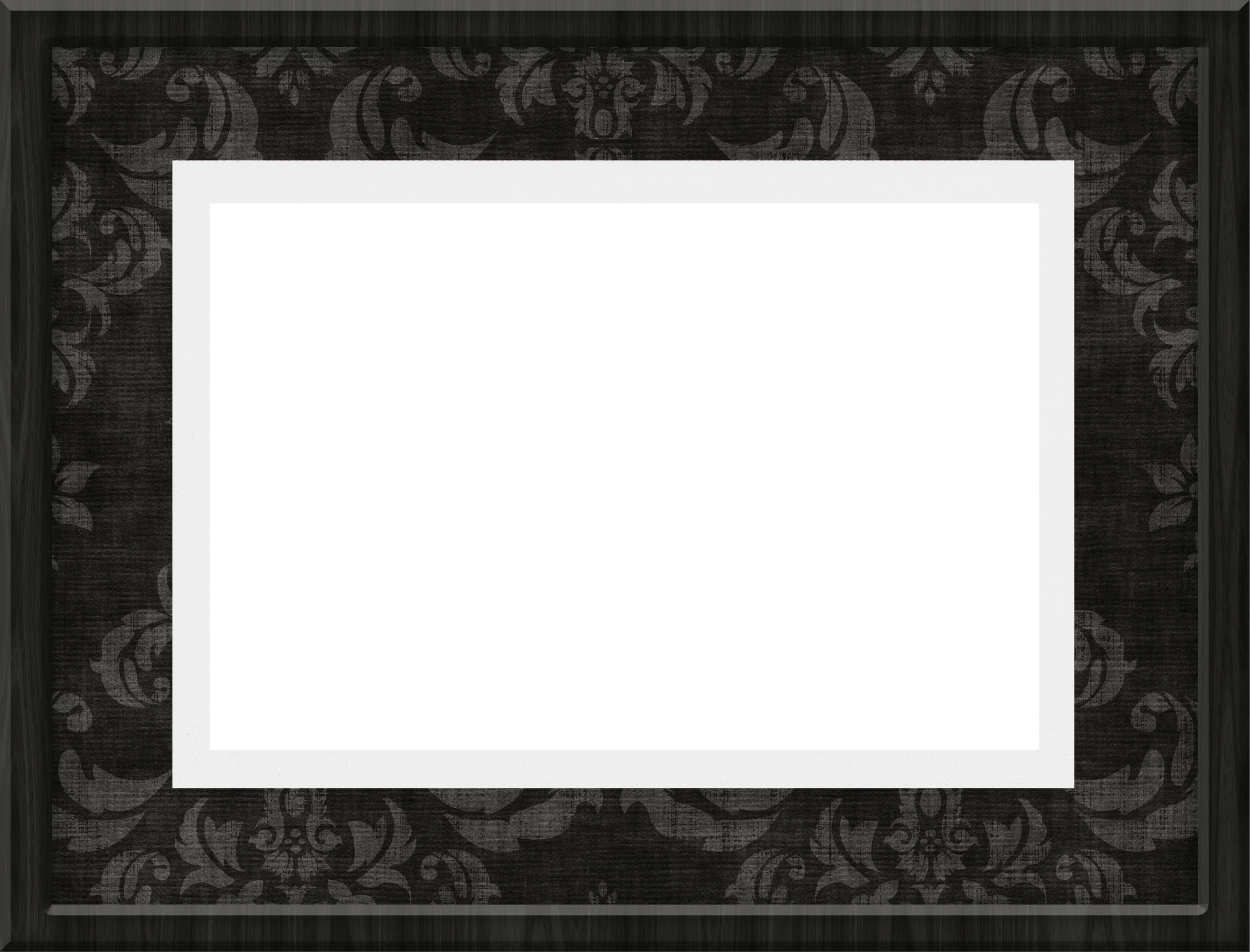 Black photo frame png. Transparent gallery yopriceville high