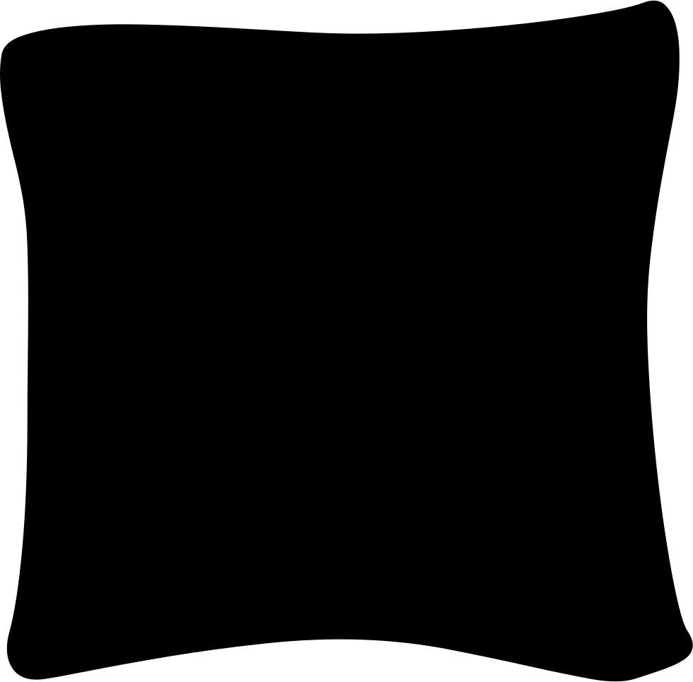 Black pillow png. Svg icon free download