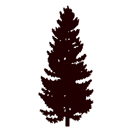 Black pine png. Tree silhouette transparent svg