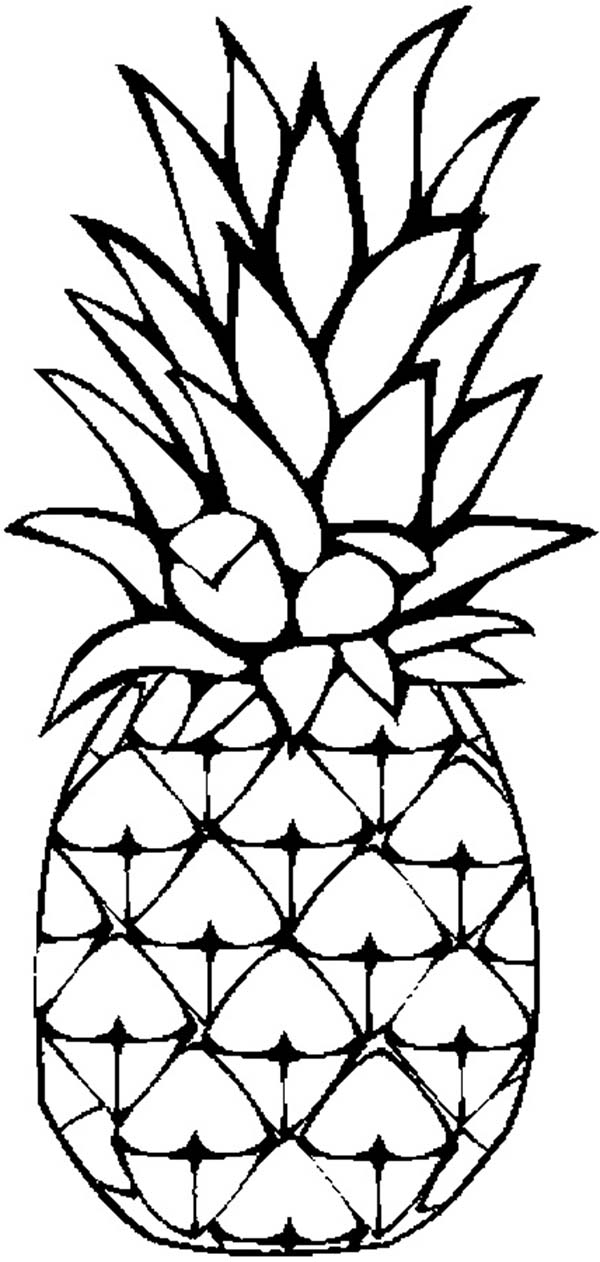 White pineapple. Black and clipart