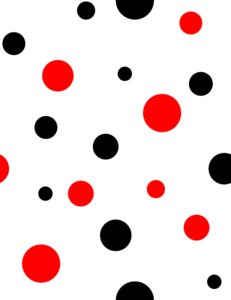 Red polka dots png. And black clip art