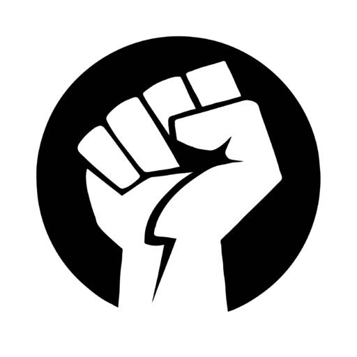 Black power fist png. Cropped bw history in