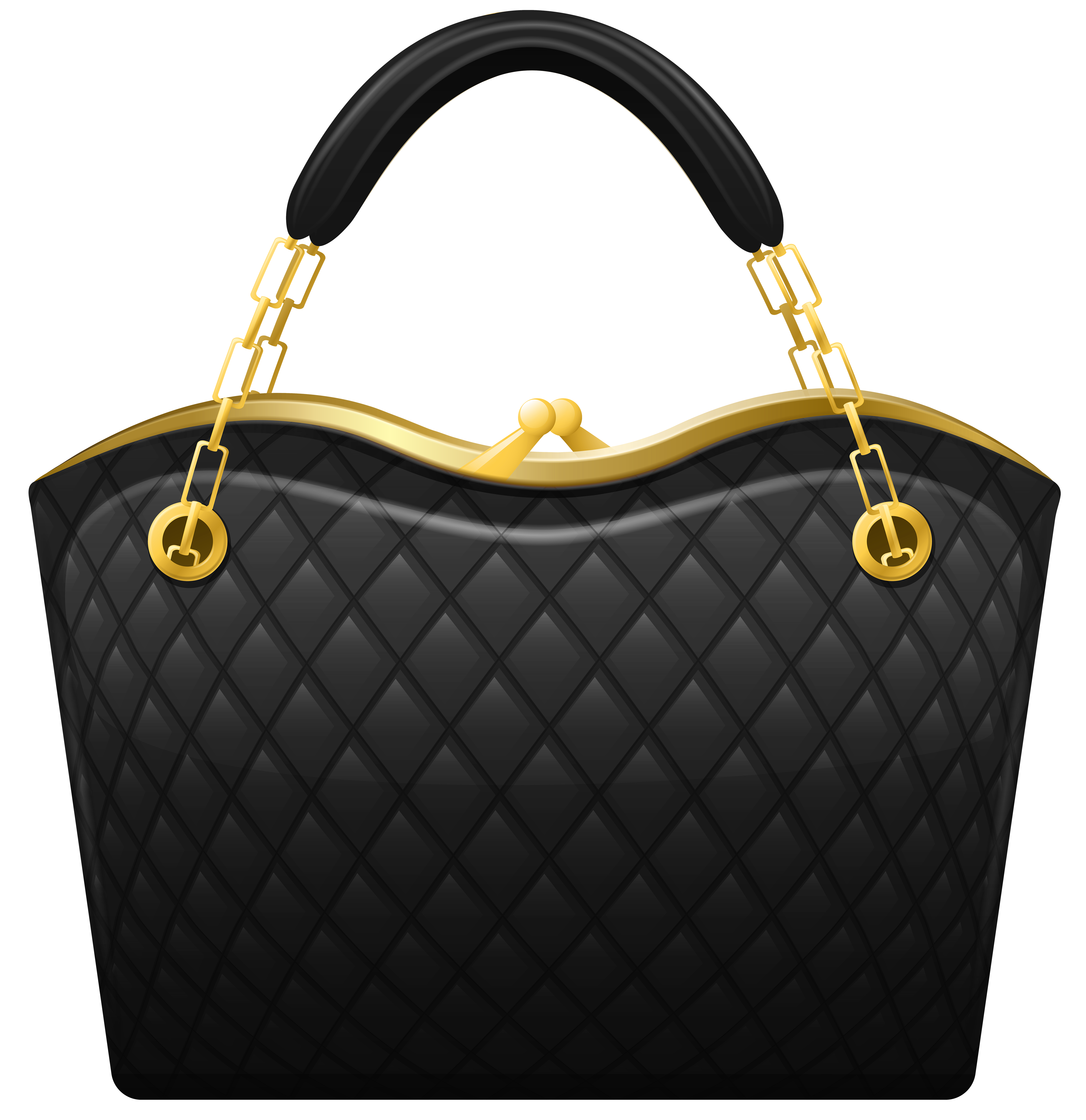Black purse png. Handbag clip art best