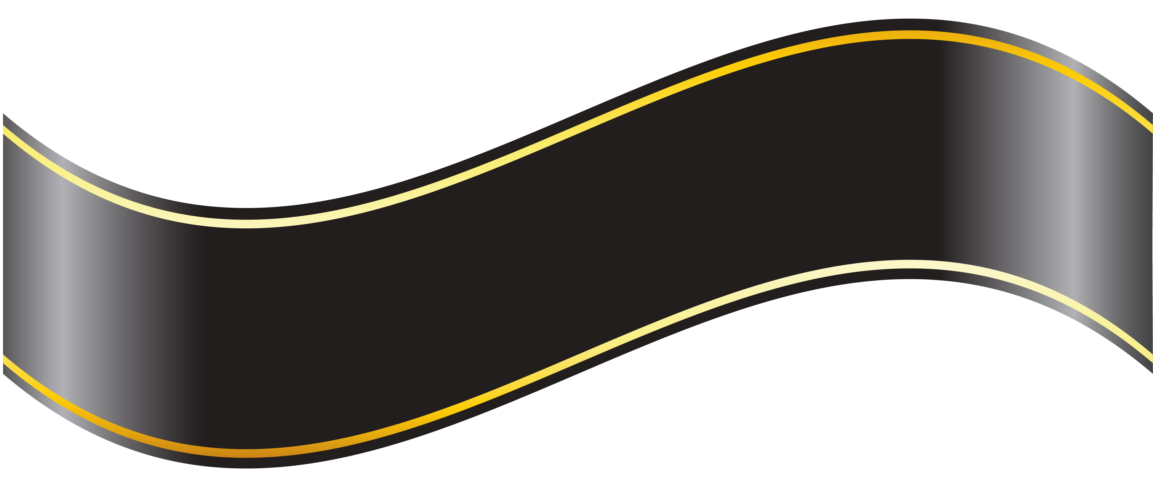Black ribbon banner png. Clipart gallery yopriceville high