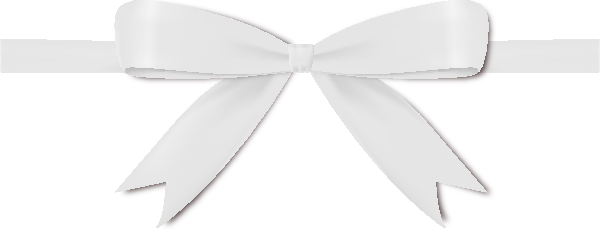 white ribbon png