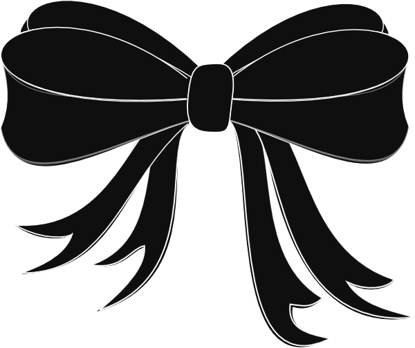 Black ribbon vector png. And white transparent small