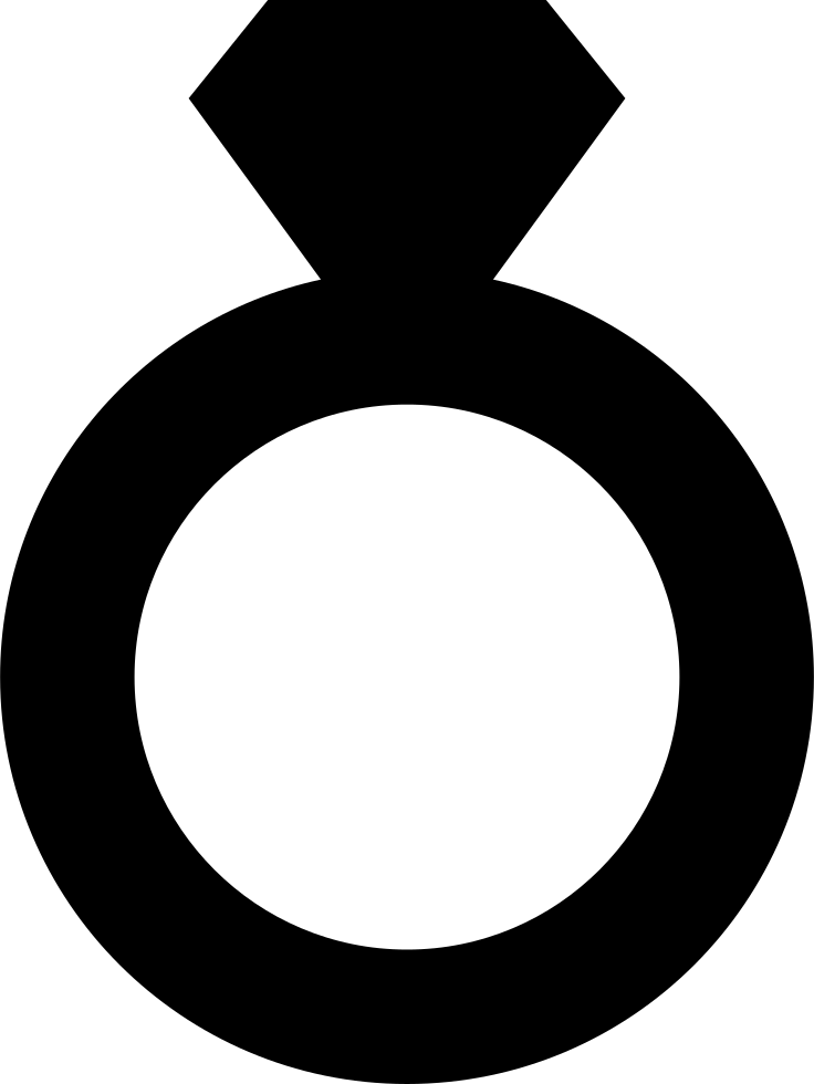 Black ring png. Engagement silhouette at getdrawings