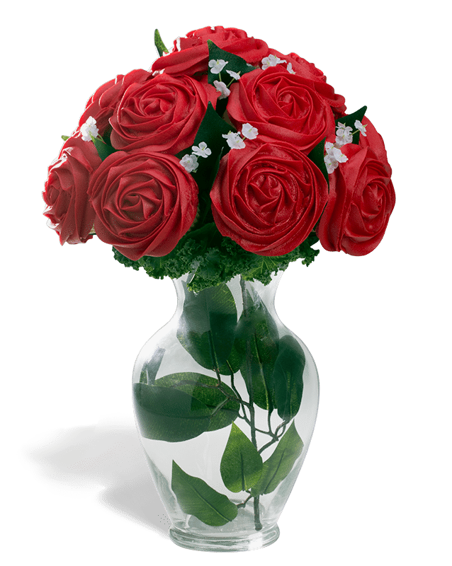 Black rose bouquet png. Baked flower cupcake bouquets