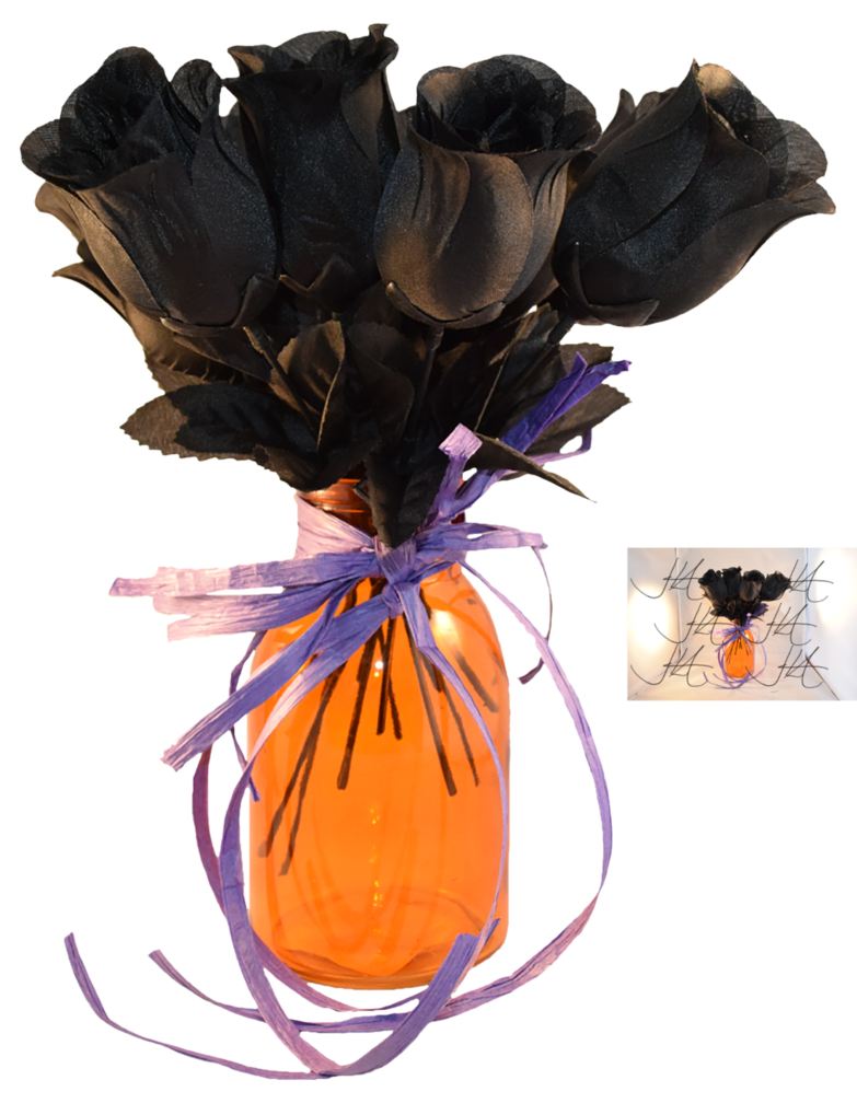 Black rose bouquet png. Stock by mom espeace