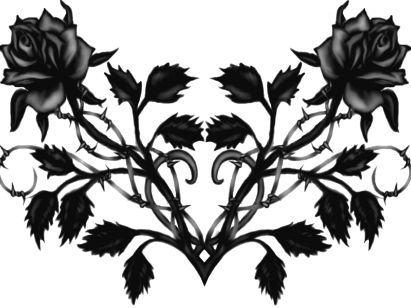Black roses png. Psd official psds