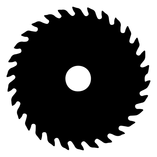 Black saw blade png. Silhouette transparent svg vector