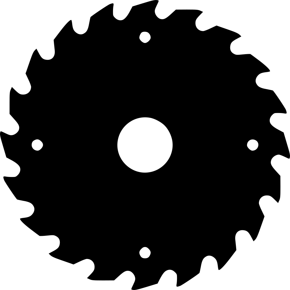 Black saw blade png. Wood svg icon free