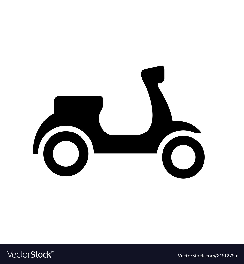 Black scooter. And white silhouette ve