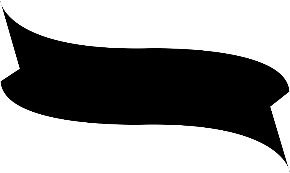 Black shape png. Ribbon svg icon free
