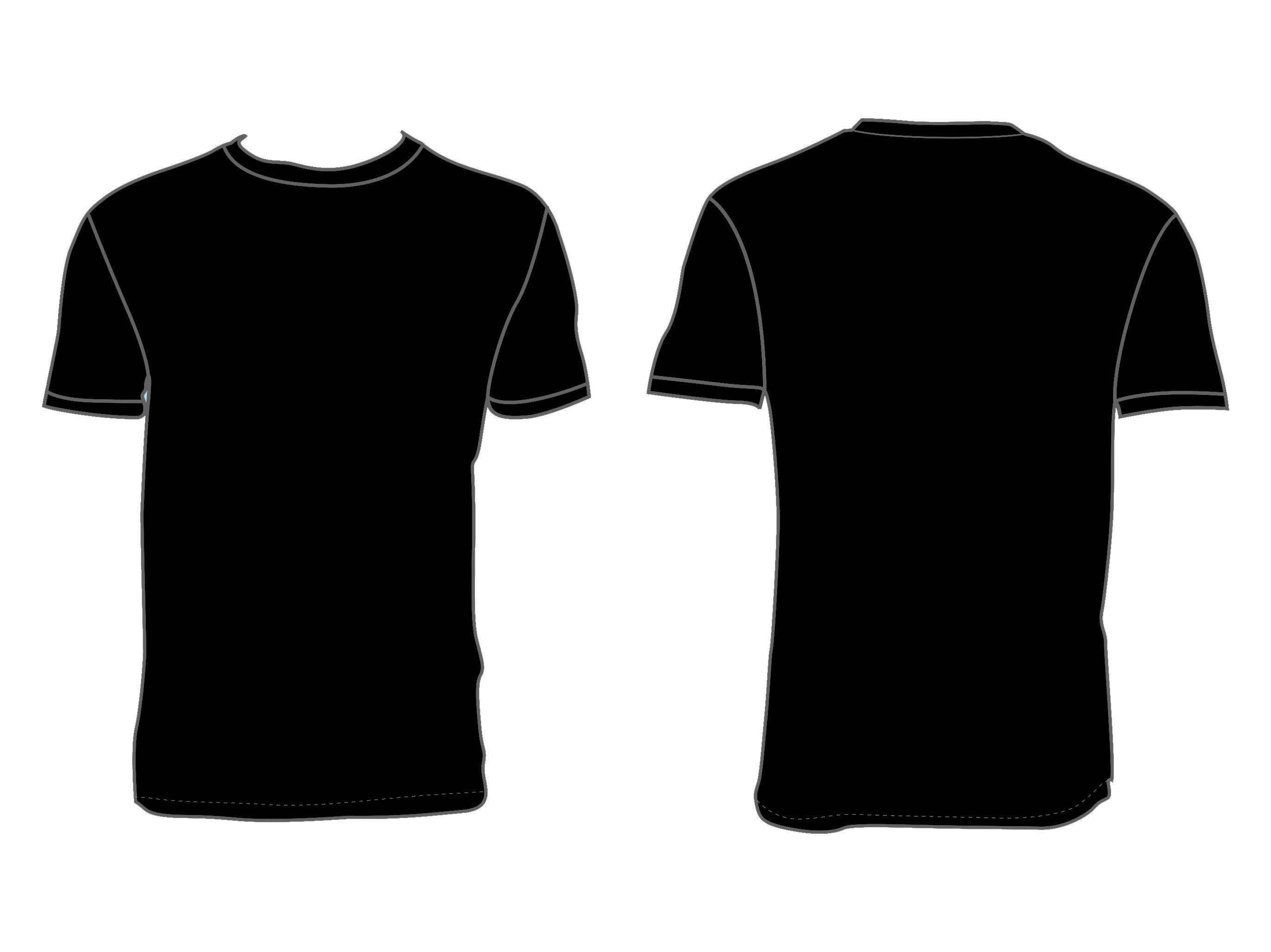 Black shirt template png. T polo clothing versus