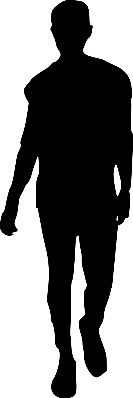 Black silhouette png. Man transparent onlygfx